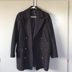 Zara navy blue coat